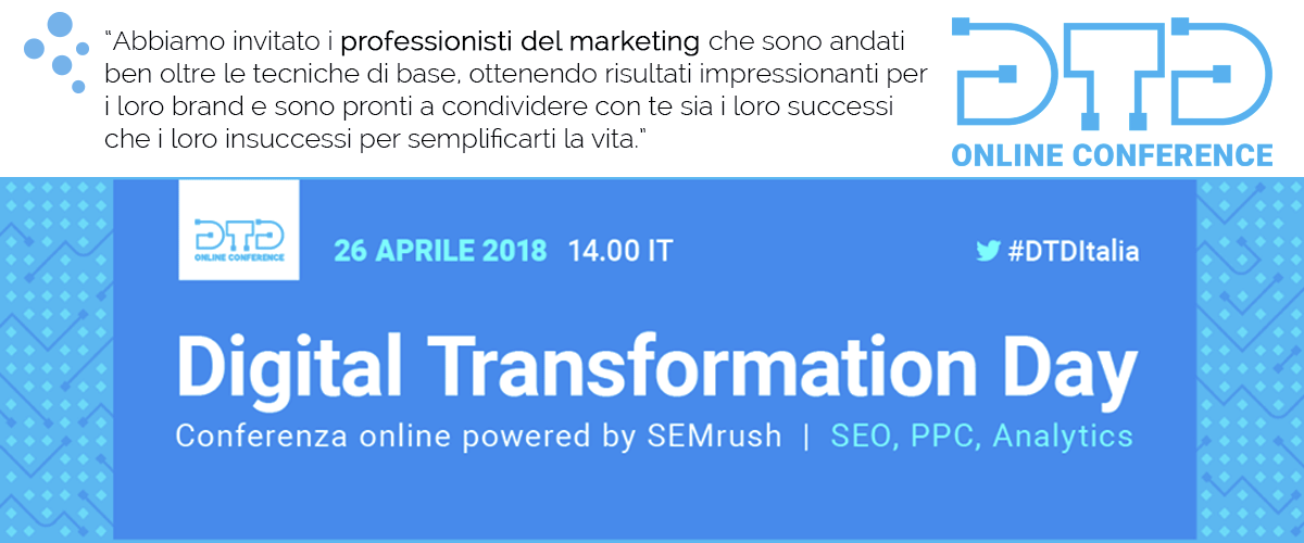 Digital Transformation Day 26 aprile 2018