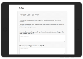 hotjar app surveys